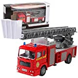 YENJO Mini Pull Back Simulation Construction Fire Engine Truck Model Children Toys Car Push & Pull Toys