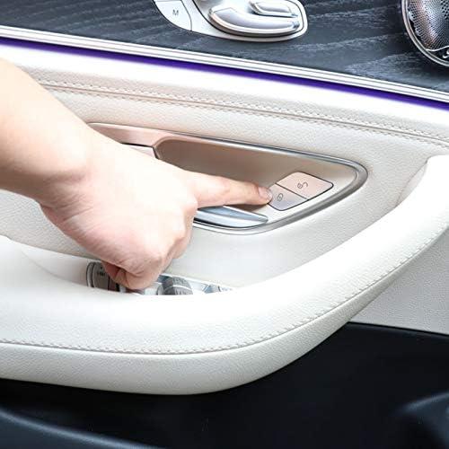 Lopbinte Car Door Switch Unlock Buttons Sequins Decoration Cover Trim ABS For Mercedes W205 W213 X253 C E Class GLC 2015-2019