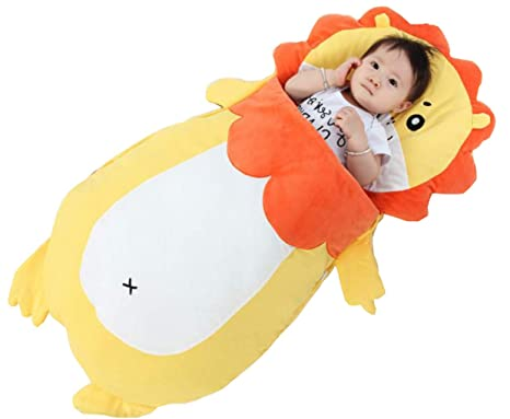 Lm sacco nanna per neonati forma di leone simpatico cartone animato