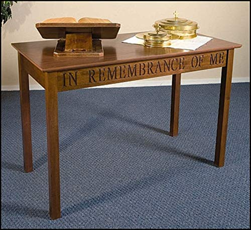 Small Solid Maple Table - US Gifts in Remembrance of Me Communion Table Walnut Stained Solid Maple Hardwood Wx Dx H