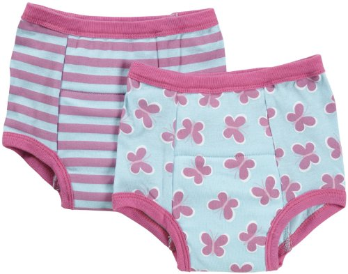 i play Girls' Training Pants, Aqua Butterfly (Pack of 2)