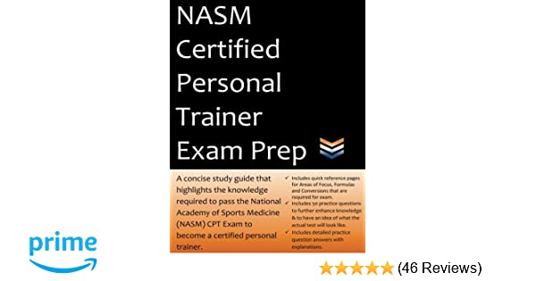 nasm certified personal trainer exam prep 2018 edition study guide rh amazon com CPT Codes CPT MRI Lumbar Sacral Spine