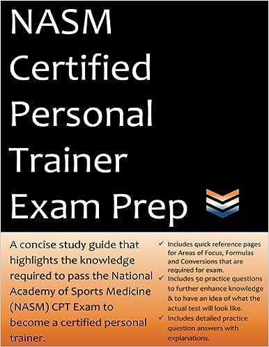 buy nasm certified personal trainer exam prep book online at low ...