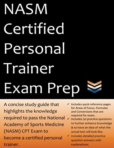 nasm certified personal trainer exam prep 2018 edition study guide rh amazon com CPT Procedure Codes CPT Codes
