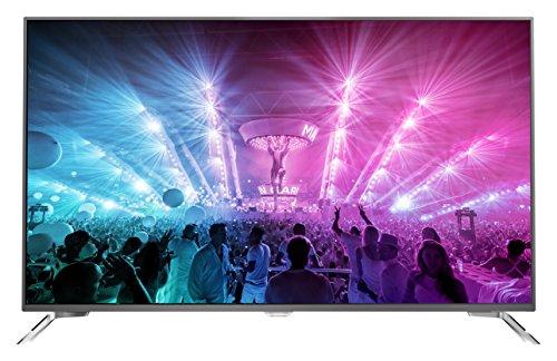 Philips 65PUS7101/12 165,1 cm (65 Zoll) Ultraflacher Android 4K-Fernseher mit 3-seitigem Ambilight und PixelPrecise Ultra HD dunkelsilber