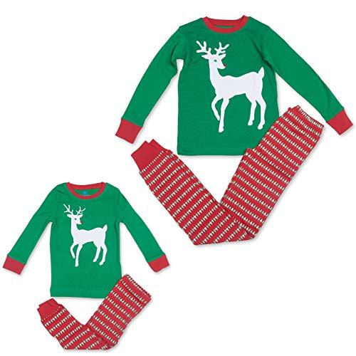 Bluenido Matching Mother and Child Christmas Reendeer Pajamas for Girls and Boys