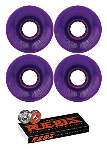 OJ Wheels 55 mm Mini Hot JuiceスケートボードWheels with Bones Bearings – 8 mm Bones Reds Precisionスケート定格スケートボードベアリング – 2アイテムのバンドル   B07BCDZW6Y