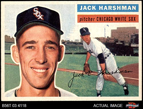 1956 Topps # 29 Jack Harshman Chicago White Sox (Baseball Card) Dean's Cards 7 - NM White Sox