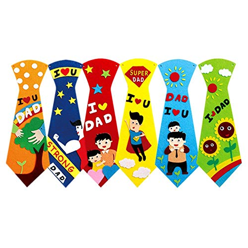 Bright Creative Crafts DIY Ties Kids Handmade Educational Toys Fathers Day Gift