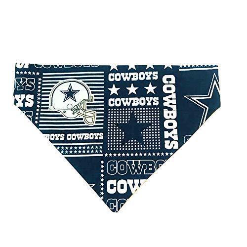 Dallas Cowboys Blue Block Dog Bandana No-Tie