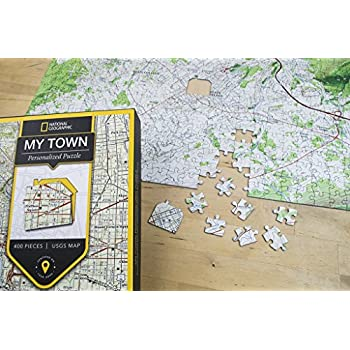Amazon.com: Personalized 'My Hometown' Jigsaw Puzzle (Aerial ... on floor puzzles, australian puzzles, map puzzles easy, map of continents, map desktop wallpaper, melissa and doug knob puzzles, large disney puzzles, map puzzles online, european puzzles, north american wildlife puzzles, map of countries the uk, printable world geography puzzles, map of germany and austria, wildlife gallery puzzles,