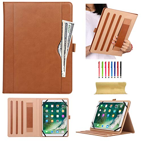 for 7.9-10.5 inch Tablet, Uliking Business PU Leather Stand Cover with Hand Strap Pencil Holder Pocket for 7.9
