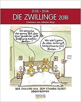 Zwillinge 2018 Sternzeichenkalender Cartoonkalender Als