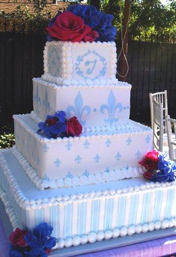 Designer Stencils C153 Fleur De Lis Cake Stencil Motif, Beige/Semi-Transparent