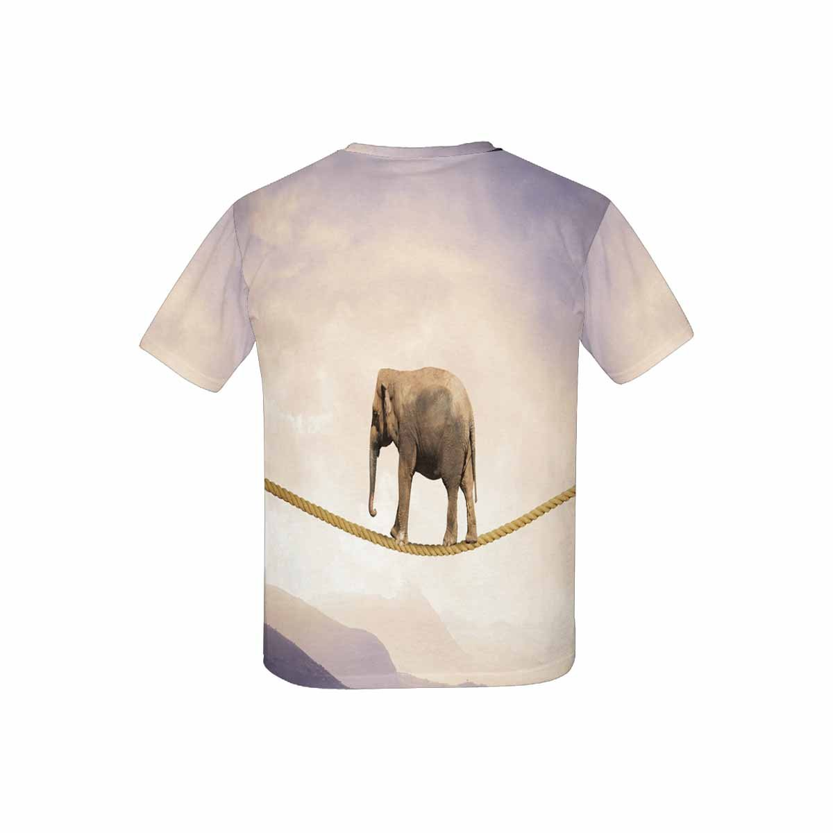 XS-XL INTERESTPRINT Elephant on Rope Youth T-Shirts