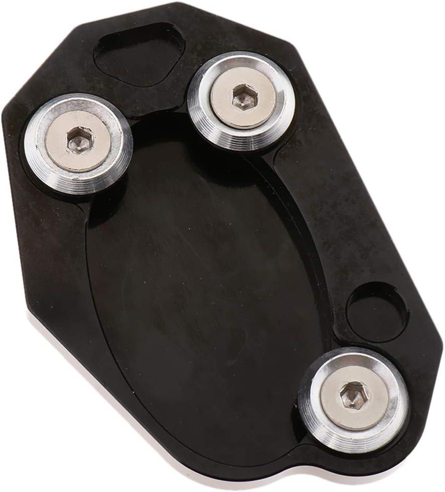 B Baosity Foot Side Stand Extension Kickstand Pad Anti-slip Plate Black for Kawasaki Z800 Z1000SX ER6
