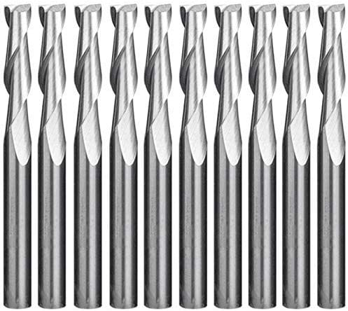 KONGZIR Stainless Ware 10Pcs4 X 32 X 55mm Double-Edged Spiral Milling Computer Engraving Machine Woodworking Tungsten Steel Milling