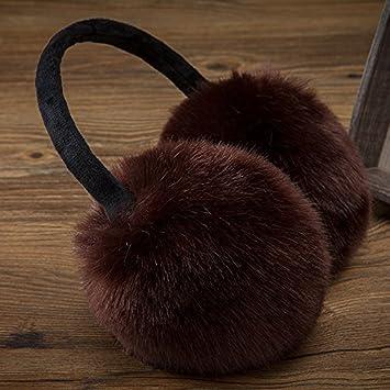 YXLMZ* Uomini Donne pieghevole Classic Fleece Earmuffs earlap solido Colore morbido peluche esterno di inverno snowboard Protector Scaldaorecchie Ear Regalo di coppia, regalo di Natale