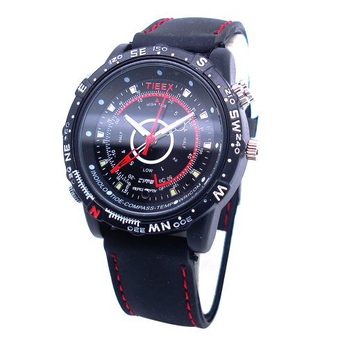 Flylinktech 16GB Mini Spy Hidden Camera Watch with Built-in Rechargeable...