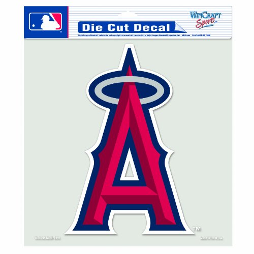 MLB Anaheim Angels 8-by-8 Inch Diecut Colored Decal