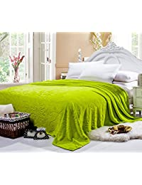 Jacquard Floral Flannel Bed Blanket Extra Soft Warm Plush Easy Care Thicken Fluffy Bedding Blankets