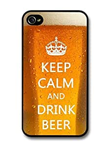 New Funny Quote Keep Calm and Drink Beer Design case for iPhone 4 4S