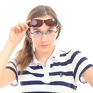 Duco Unisex Myopia Mixed Size Polarized Sunglasses 8953 Common Size Wine Red