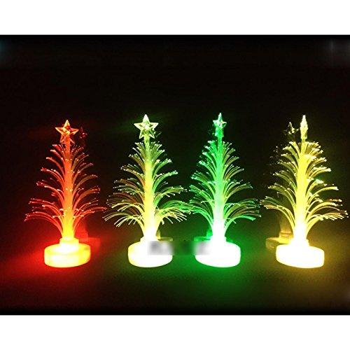 7 Color Christmas Xmas Tree Fiber Optic Led Night Light