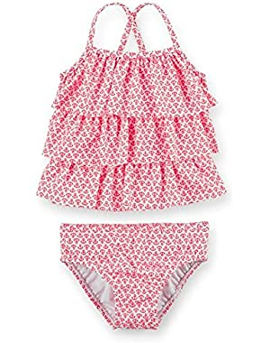 Pink Nautical 2 Piece Swimsuit 12 Months