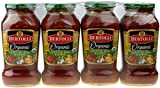 Bertolli Organic Olive Oil, Basil & Garlic 24 oz Marinara Sauce, 4 pack
