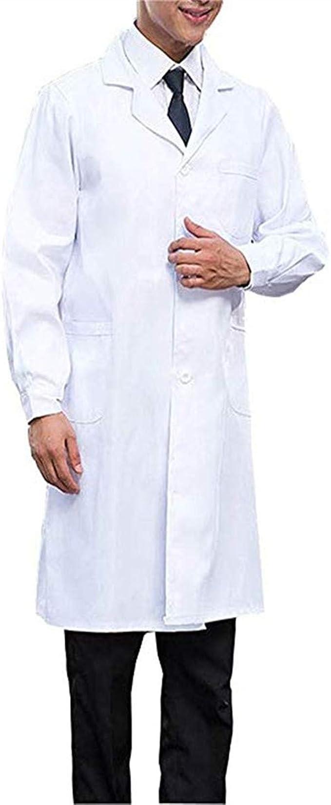 Hombres Bata Médico Laboratorio Enfermera Sanitaria de Trabajo ...