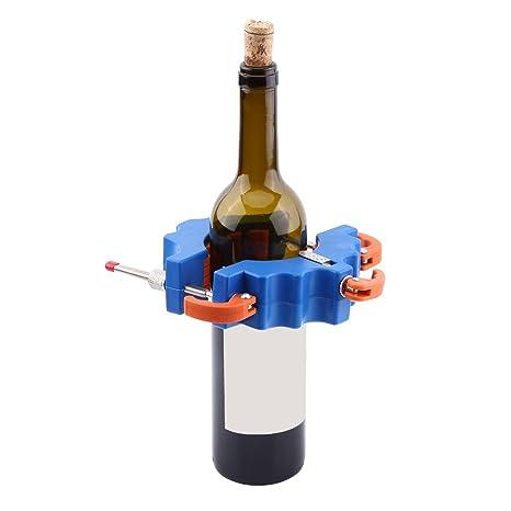 Cristal Cortador Bottle Cutter Botella Botellas de cristal (Cutter Cobre Varilla Cristal cerveza Botellas de Vino Botella Herramientas de Corte Azul: ...