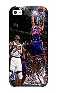 Durable New York Knicks Basketball Nba Seattle Supersonics Back Case/cover For Iphone 5c