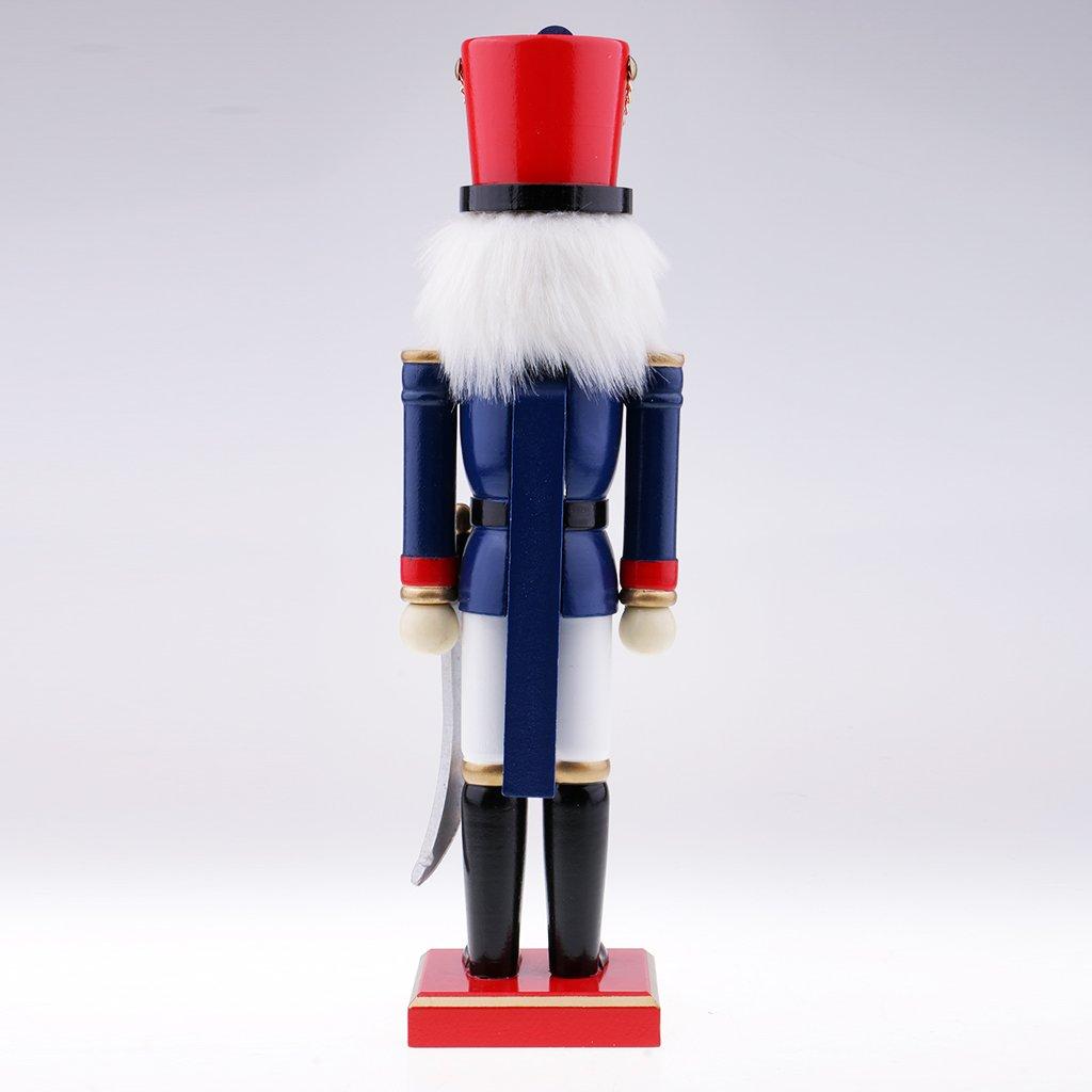 # 2 IPOTCH Modelo de Soldado de Cascanueces de Madera Ornamento de Navidad Decoraci/ón Casera Navide/ña Altura de 38cm
