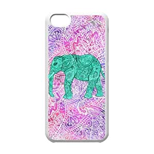Y-M-D Lean in Elephant Aztec Tribal Plastic Phone Case Back Cover iPhone 5c