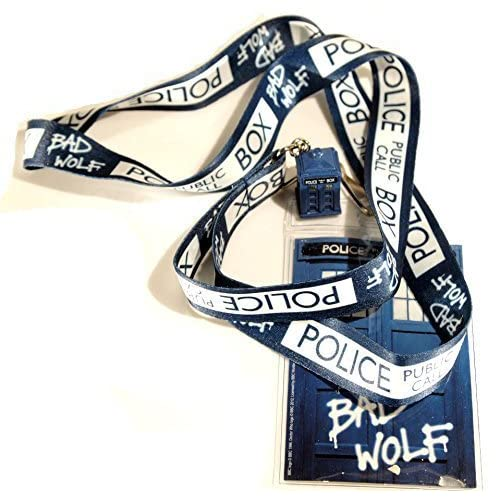 Underground Toys Doctor Who Lanyard/Bad Wolf with Tardis 3D Charm