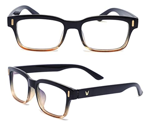 Syght Glass India Black & Brown - Blue Light Blocking Crystal Clear Gaming  Glasses With 100