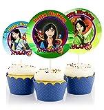 12 MULAN Birthday Inspired Party Picks, Cupcake Picks, Cupcake Toppers #1
