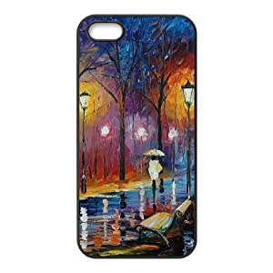 wugdiy Customized Cell Phone Case Cover for iPhone 5,5S with DIY Design Art Painting