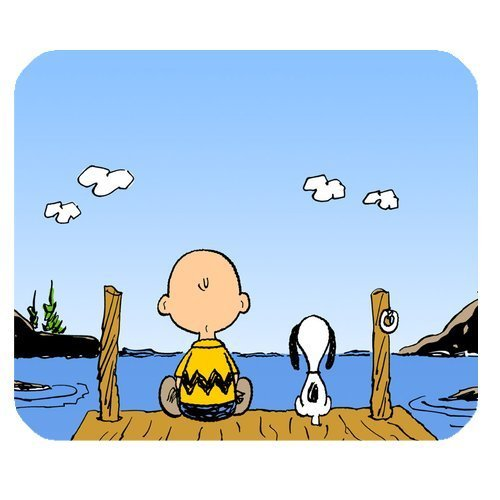 wn Snoopy Mouse Pad Cartoon Mousepad-JN407 ()