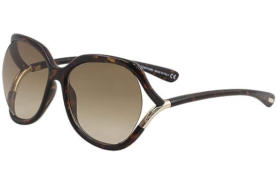 e679c8a1d45ee Amazon.com  Tom Ford FT0578 52F Dark Havana Anouk Square Sunglasses ...