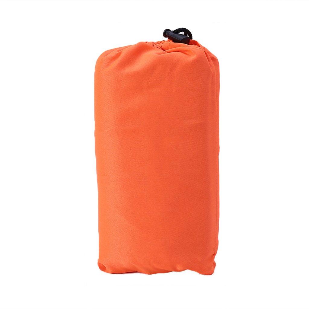 cicitop 1pcs超軽量キャンプ寝袋ライナー, Singleポータブルポリエステルポンジー、4色の選択、理想的な旅行、キャンプ、アウトドア活動他。 B07D3MCS9B  オレンジ