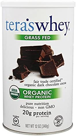 tera s Organic Whey Protein, Fair Trade Certified Dark Chocolate Cocoa, 12 oz
