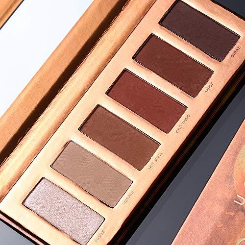 UCANBE Matte Eyeshadow Palette Makeup 6 Colors Neutral Eye Shadow Palette Warm Brown Natural Pigmented Shadow Long Lasting Cosmetics Eye (UCANBE MINI HEAT)