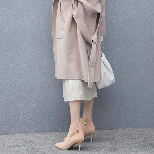 Chelsea Festa Zpfme Spillo Cerniera Donna Alto Elegante A Apricot Stivali Tacco Stivaletti wZHzUW4w7q