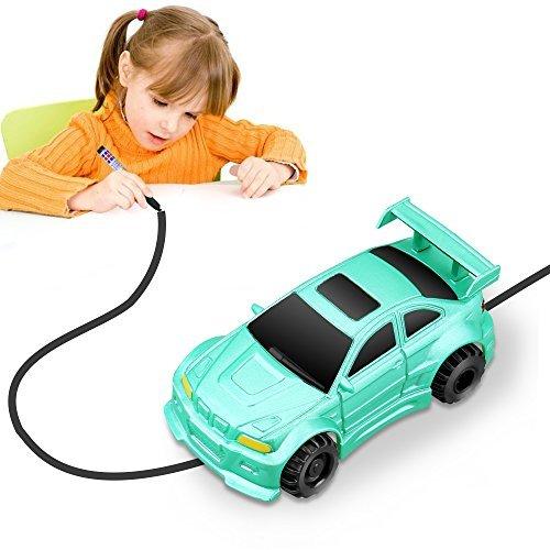 YoCosii Mini Vehicle Model Induction Follow Black Line Car, Magic Inductive Truck Toy Educative, Imaginative, Learning & Fun for Kids