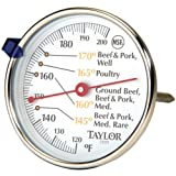 Taylor Precision Products Classic Style Meat Dial Thermometer - Set of 2