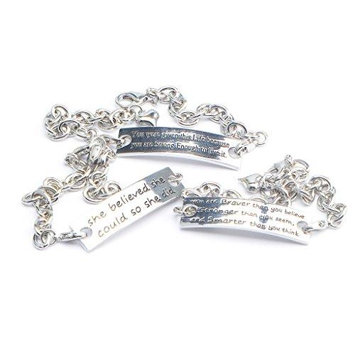 MIKINI Stainless Bracelets Motivational Inspirational