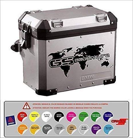 Aufkleber Aufkleber Koffer Kompatibel Mit Bmw R 1200 1150 1100 800 Gs Aventure Weltkarte Vogelmalerei 16 Farben Verfügbar Kit 2 Einheiten Auto