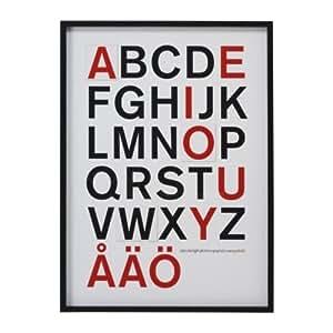 IKEA OLUNDA - Imagen, alfabeto - 66x91 cm